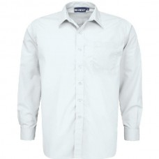 Boys Long Sleeve Shirts - Twin Pack - White